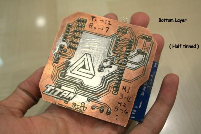 GESTE gesteuert Arduino basierend Rover (Wireless + Linie folgend)
