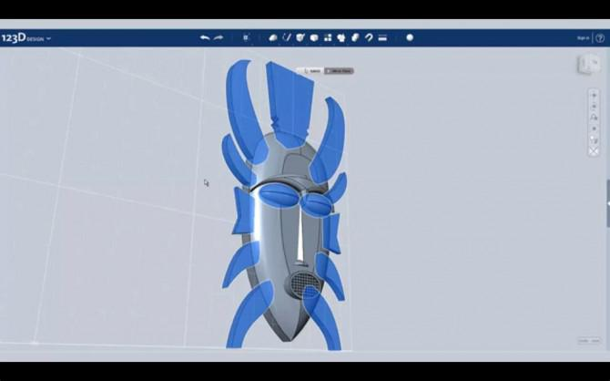 Entwerfen Sie einen alten African Mask Mit Autodesk 123D Entwurf