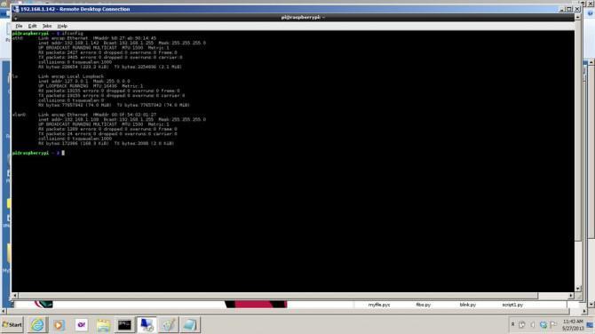 Konfigurieren der Raspberry Pi Ethernet-Anschluss für die Fernbedienung