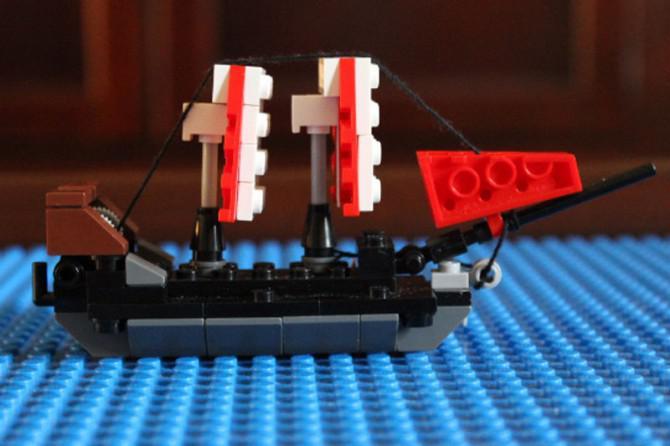 Wie man ein LEGO-Schiff Stellen in einer Flasche
