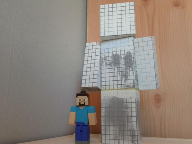 Minecraft Steve Modell!  Mit Bonus Double Chest!