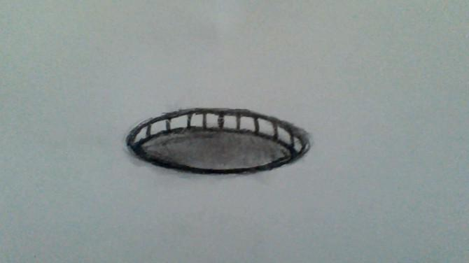 Hole in paper Illusion