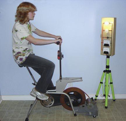 drehen sie einen heimtrainer in einen energie bike. Black Bedroom Furniture Sets. Home Design Ideas