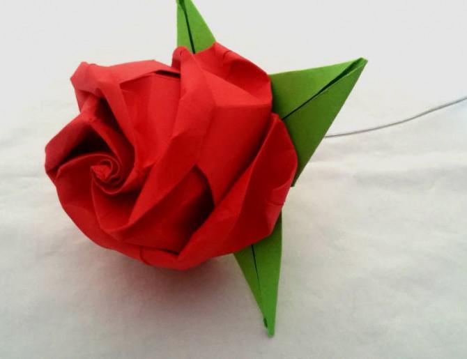 Häufig Falten Sie ein Origami Rose OT01