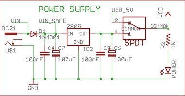 5V-Spannungsregler mit 7805