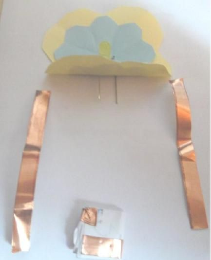 LED-Blumenpostkarte für Kinder.