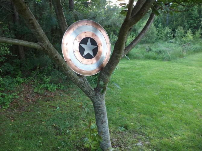 Kupfer und Aluminium Captain America Schild