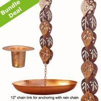 Copper Downspout Regen Chains - Grünes Haus und Garten