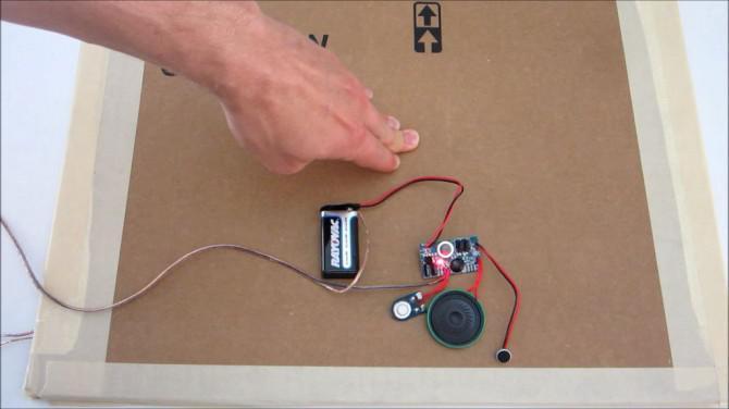 Verwenden Sie eine DIY Druckplatte Schalter zur automatischen Erstellung von Haunted House