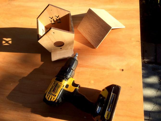 Machen Sie eine Birdhouse Mit dem Laser Cutter