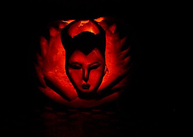 Maleficent Halloween-Kürbis-