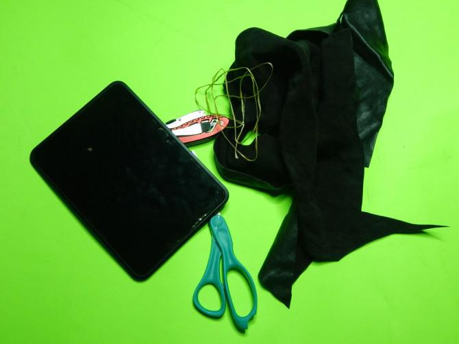 Wie man eine einfache Leder Tablette-Kasten Stellen
