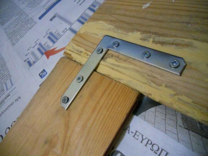 -Stellen Sie eine einfache Plakatrahmen aus planks-