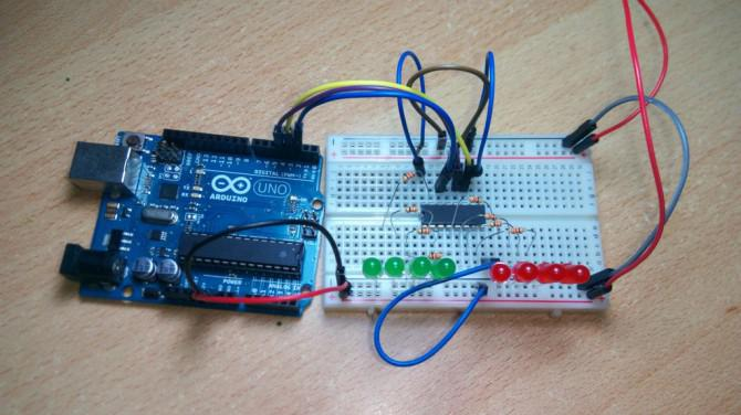 Wie man ein Schieberegister zu verwenden - Arduino Tutorial