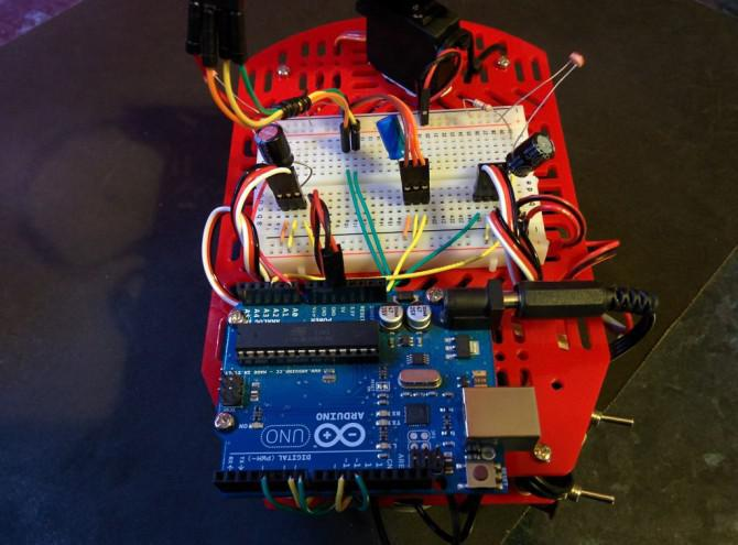 Sucht nach Licht und Obstacle Vermeidung Robot