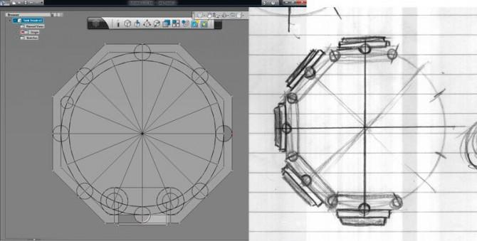 Robot Caterpillar Tank Laufflächen, Johnny Five Style - 3D-Drucken