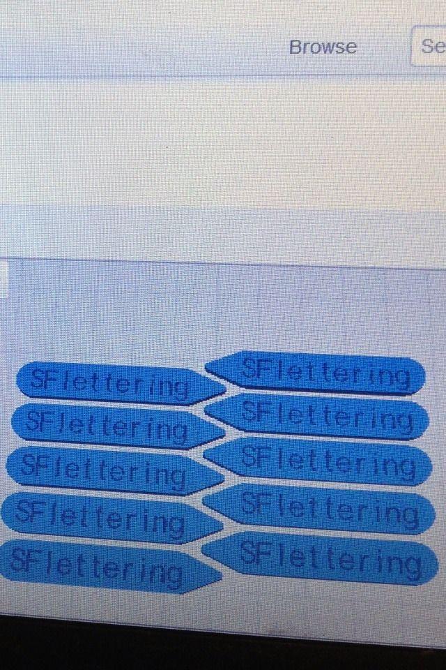 SF-Beschriftung Kragenstäbchen Mit Customizer