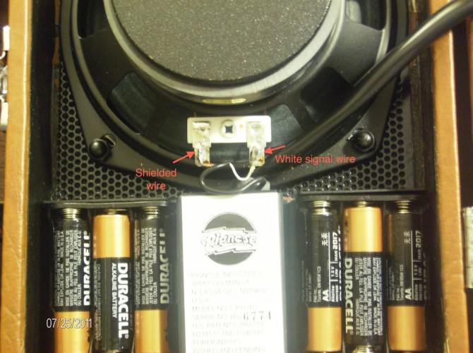 Pignose 7-100 Externer Lautsprecher mod