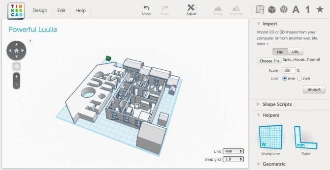 3D-Druck eine Vektor-Datei mit Tinkercad
