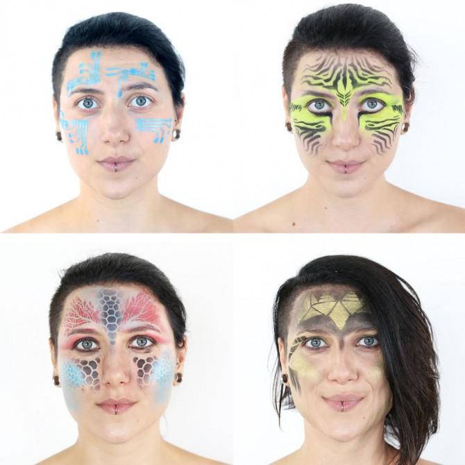 DIY Makeup-Schablonen