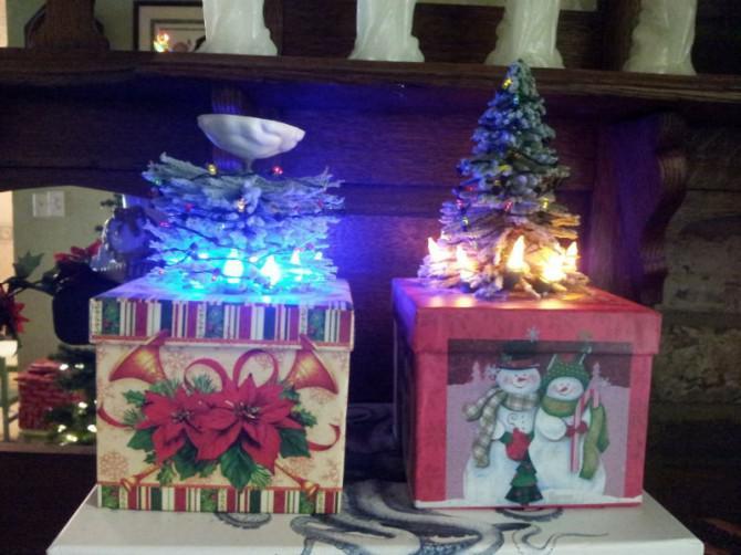 Wie man einen Mini Portal Weihnachtsbaum-Geschenk-Stellen