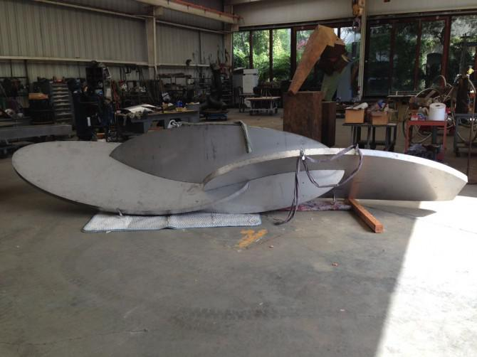 Big Stainless Steel Sculpture: Part 2