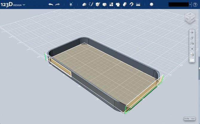 IPhone 4 Fall mit Kopfhörerwinde in Autodesk 123D