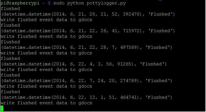 Internet der Dinge WC Uploads Events in die Cloud (Raspberry PI)