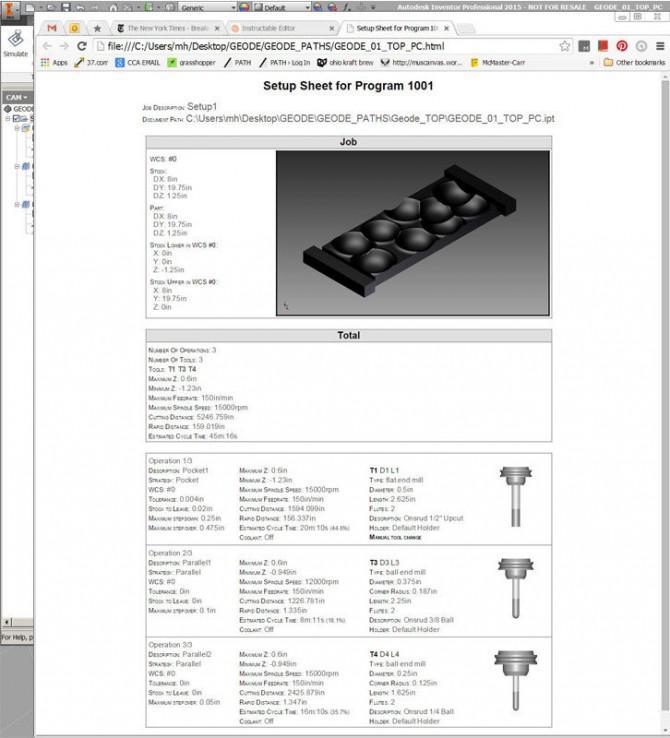 Von Modell zu Mill (HSM mit Ihrem Entwurf vom Computer auf das Maschinenbett zu bekommen)