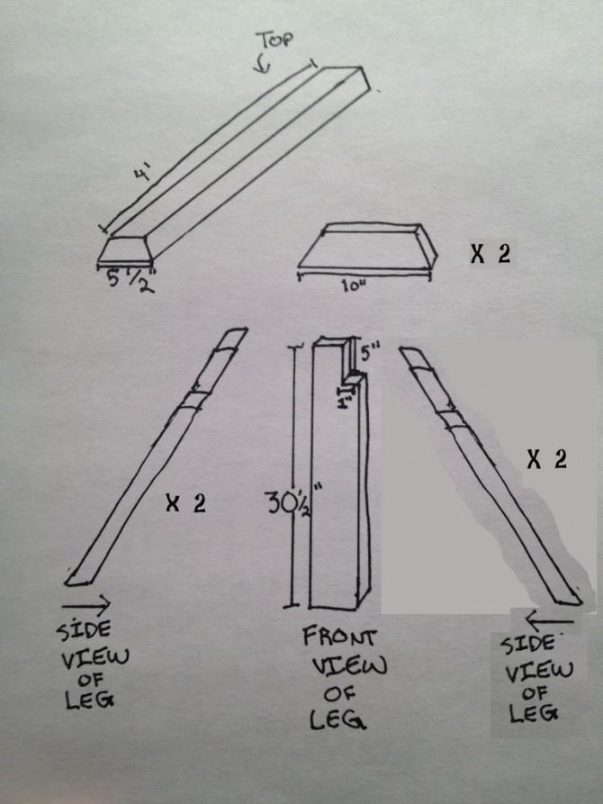 Stark, leicht, Quick-Build Sägebock