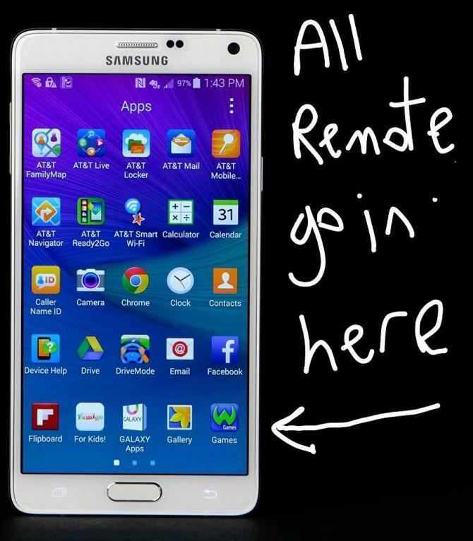 Ersetzen alle meine Infrarot-Fernbedienungen mit Träger 6 und ein Android-Handy.