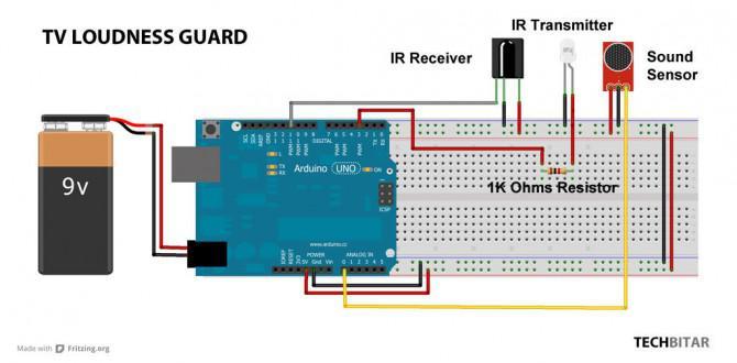 TV Volume Loudness Garde mit Arduino