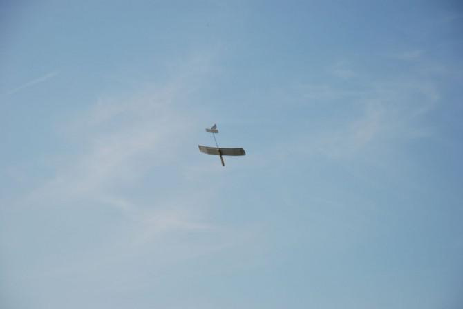 Freeflight einfachen Segelflugzeug und Histart