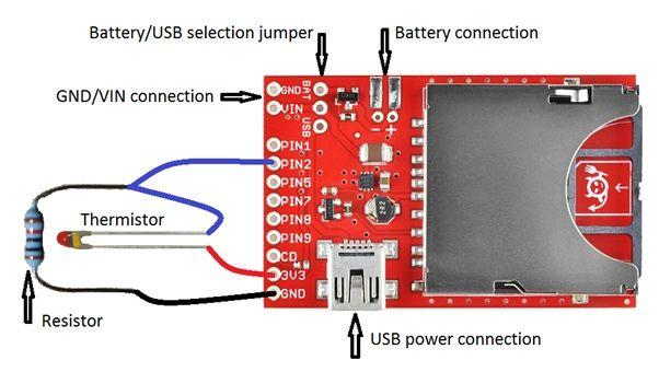 Einfache drahtlose Temperatursensor Aktualisierung Website mit Elektro imp und Thermistor