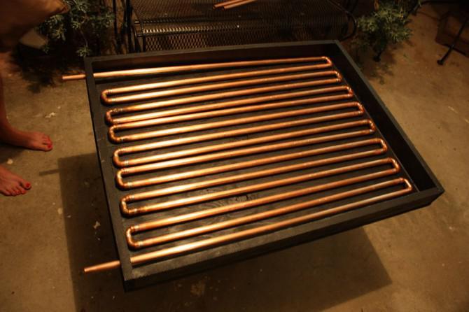 Solarwarmwasserbereiter: Part 1- The Collector
