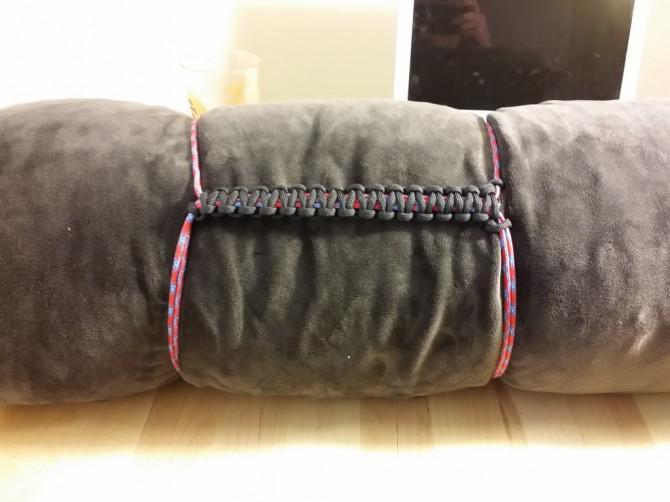 Paracord Blanket / Sleeping Bag Compression Strap mit Handgriff - Ich habe es bei TechShop!