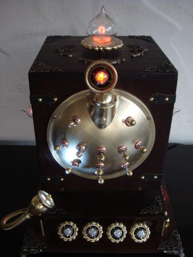 Aetherias Secret - Eine Steampunk sicher mit Nixie-Anzeige