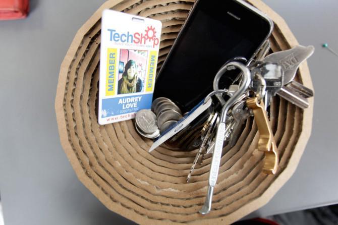 Erstellen Sie eine Vase mit dem 123D Make Mobile App @ TechShop!