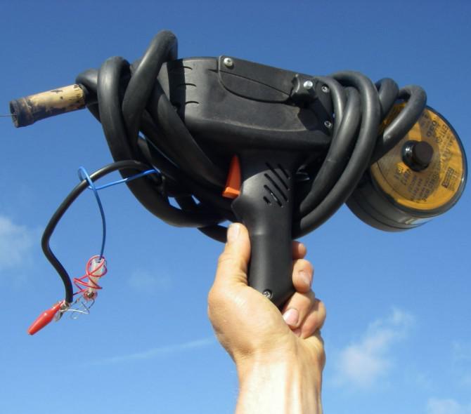 Spool Gun Handdrahtförder Schweißer angetrieben durch Car Batteries