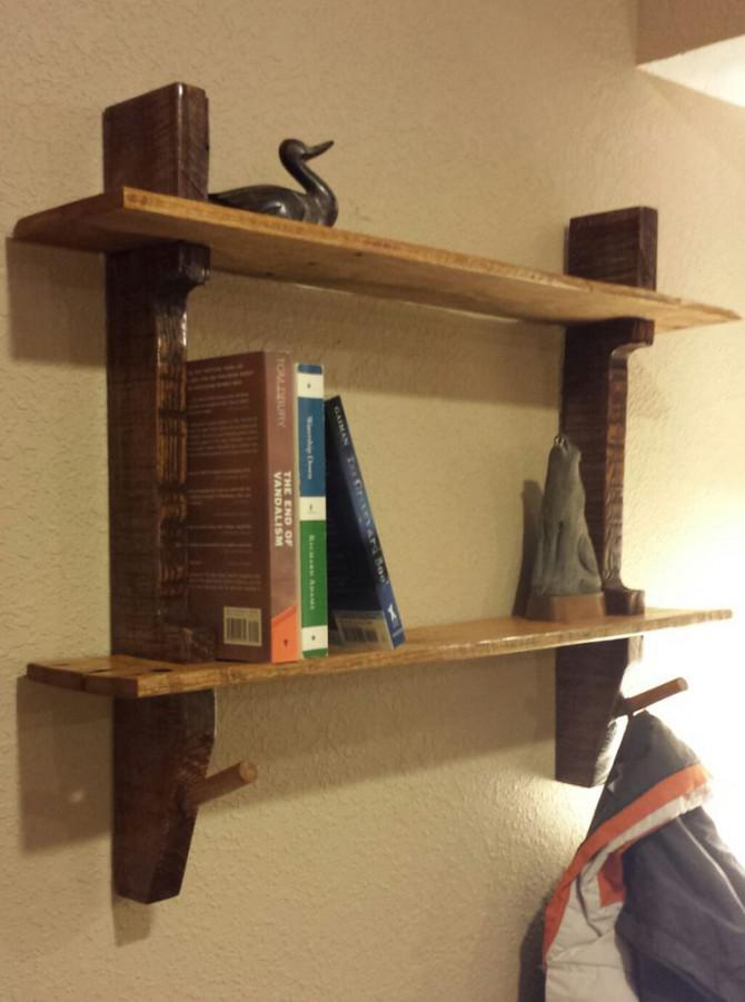 Palettenholz Shelf Garderobe