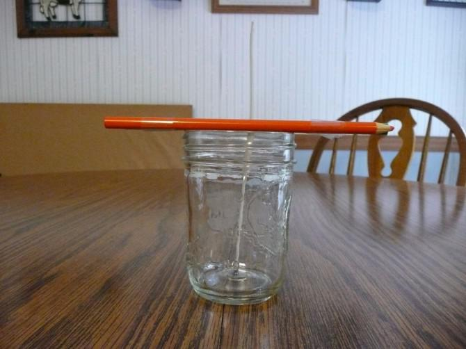 DIY Maurer-Glas-Kerzen