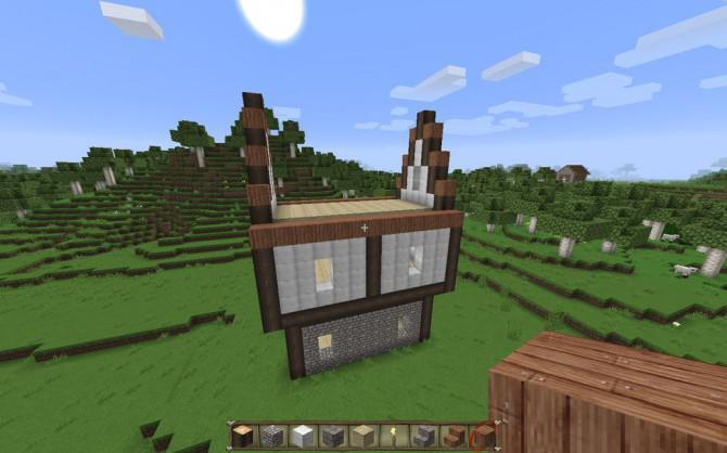 wie man ein haus in minecraft pocket edition kreativ macht. Black Bedroom Furniture Sets. Home Design Ideas