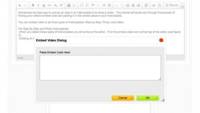 Wie man ein Video auf Instructables einbetten