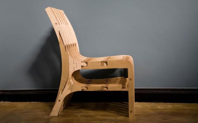 Cnc Scissor Chair Sperrholz