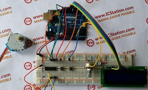 28BYJ-48 Schrittmotorsteuerung am Arduino mit ULN2003 Chip