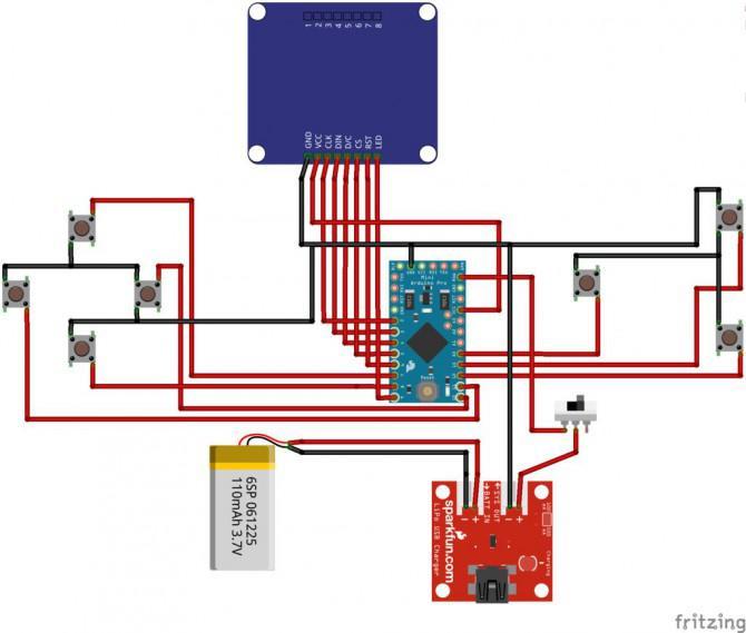 Magpi: Die Micro Arduino Gaming Platform Interface