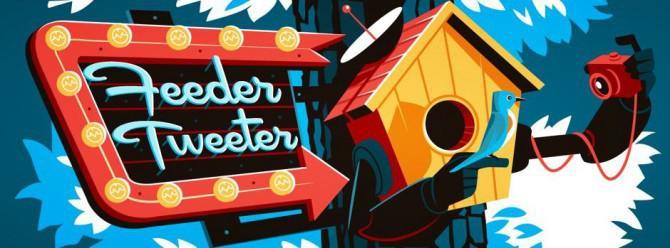 Autonome Solar tweeting Vogel-Feeder