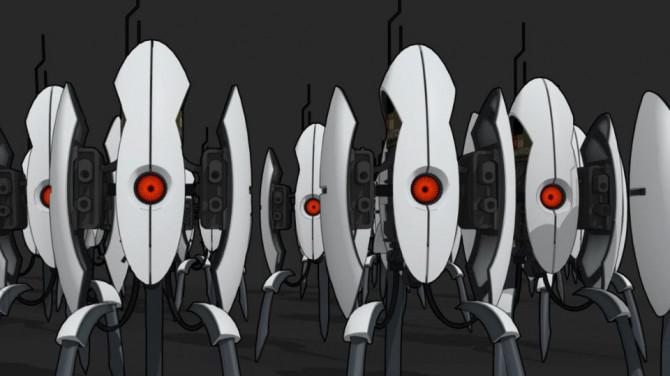 Endwert Aperture Turret aus Portal 2