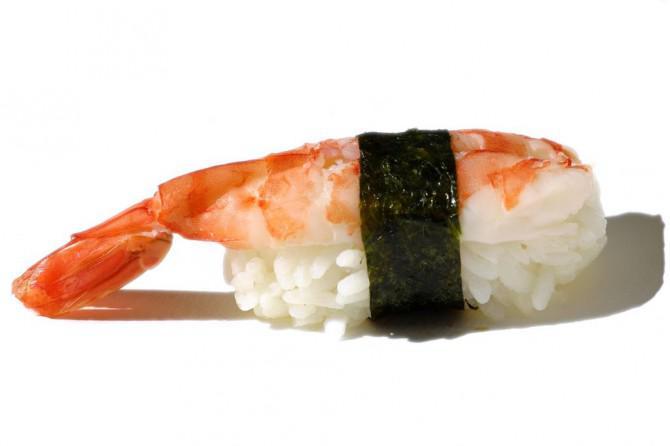 Sushi (Nigiri) Kostüm mit Kopfstück