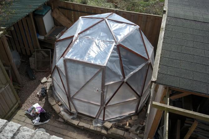 Geodätischen Kuppel geodätische kuppel gewächshaus